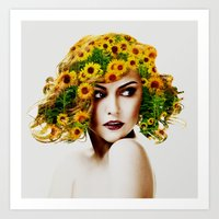 sunflowers Art Prints featuring Sunflowers by EclipseLio