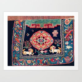 Shigatse Makden South Tibetan Buddhist Saddle Cover Print Art Print