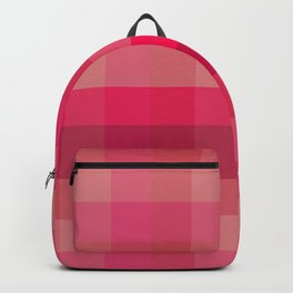 Bright Pink Check / Plaid Striped Digital Pattern Backpack