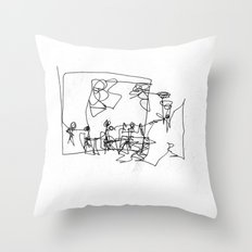 Abbey Road (?) Throw Pillow