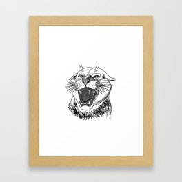 tiger angry growls ( https://society6.com/vickonskey/collection ) . Art Framed Art Print