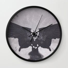 Realism Charcoal Drawing of Maleficent Wall Clock