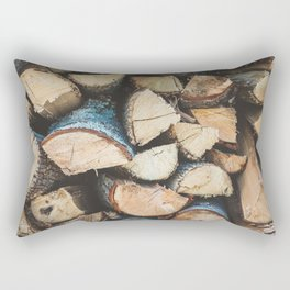 Wood / Photography Print / Photography / Color Photography Rectangular Pillow