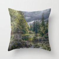 poland Throw Pillows featuring Hortulus-Poland HDR by helsch photography