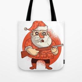 Santa & His Gun Tote Bag