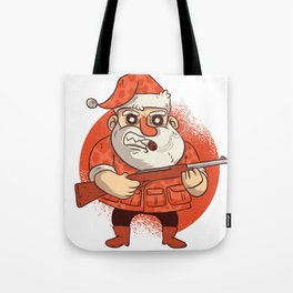 Santa & His Gun Tote Bag