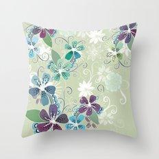 Summer blossom Throw Pillow