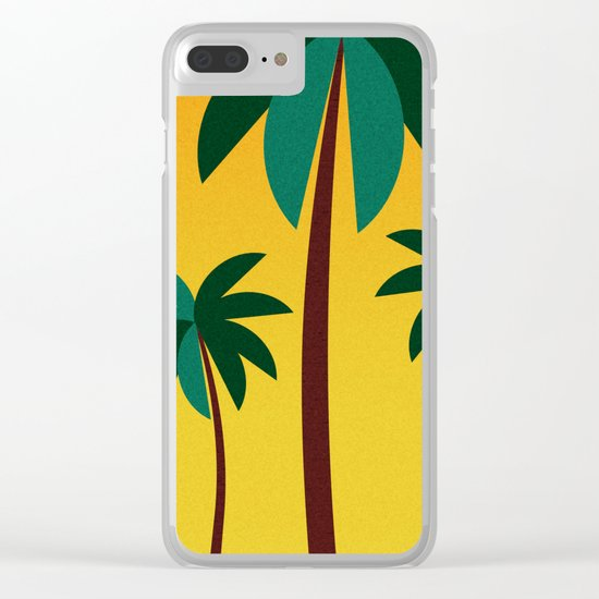 Palm Trees Clear iPhone Case
