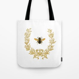 French Bee acorn wreath Tote Bag
