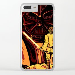Darth Vader and Luke Skywalker Clear iPhone Case