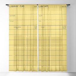 Library Card BSS 28 Yellow Sheer Curtain