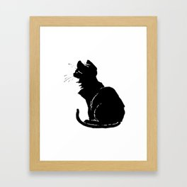 Life With Black Cats Vector Framed Art Print