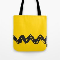 charlie brown Tote Bags featuring Good Grief Charlie Brown! by craigomatic
