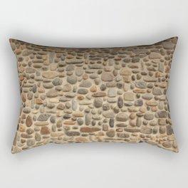 Mosaic Pebble Wall Rectangular Pillow