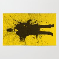 watchmen Area & Throw Rugs featuring WATCHMEN - RORSCHACH (YELLOW EDITION) by Zorio