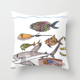 Party of Seven Throw Pillow