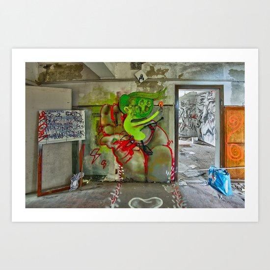 riding the rocket of doom Art Print