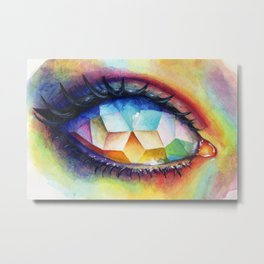 Mosaic eye Metal Print