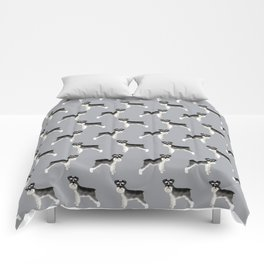 Schnauzer minimal basic dog art pattern design perfect gifts for schnauzers dog breed Comforters