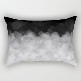 Snow Clouds in the Dark - Abstract Rectangular Pillow