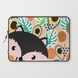 Fox, leaves and tropical fruits Laptop Sleeve