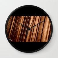 vinyl Wall Clocks featuring Vinyl. by Derek Fleener