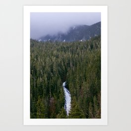 Waterfall in gifford-pinchot national forest, washington Art Print