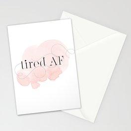 tired AF Stationery Cards