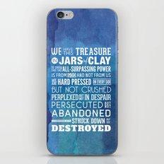 Jars of Clay. 2 Corinthians 4:7-9. iPhone & iPod Skin