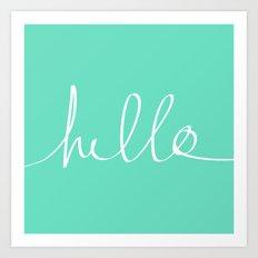 Hello x Mint Art Print