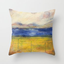 Blue Lake No. 1 Throw Pillow