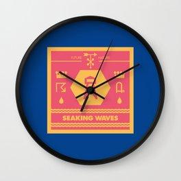 Seaking Waves 002 Wall Clock