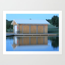 Boat House Blue Art Print