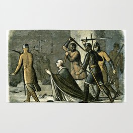 Murder of Thomas Becket Rug