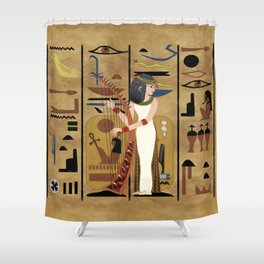 The Harpist Shower Curtain
