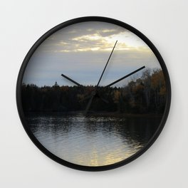 Downeast Autumn Reflections of Scattered Illuminations Wall Clock