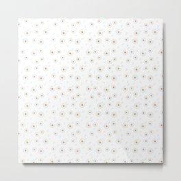 chamomile seamless pattern White Chamomile  Flowers pattern Metal Print
