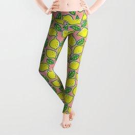 Lemons pattern Leggings