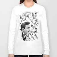 johnny cash Long Sleeve T-shirts featuring Johnny Cash by Iany Trisuzzi