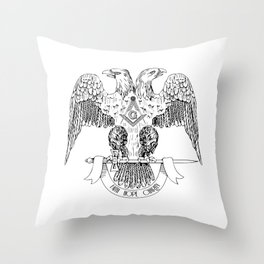 Two-headed eagle as Masonic symbol Throw Pillow