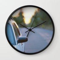 subaru Wall Clocks featuring Sunrise by MICHAEL
