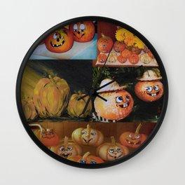 Pumpkin Collage Wall Clock