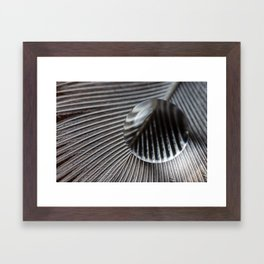 Droplet on feather Framed Art Print