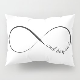 Infinity and beyond minimalistic symbol Pillow Sham