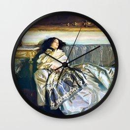 John Singer Sargent - Nonchaloir - Digital Remastered Edition Wall Clock