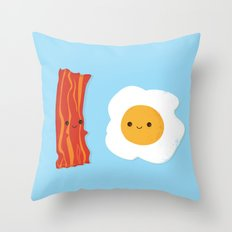 Would you be the bacon to my eggs? Throw Pillow