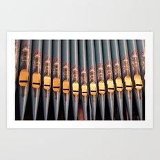 Big Organ - Pipes Art Print