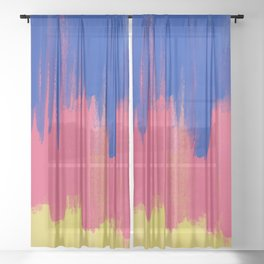 Cultivated and Zesty Abstract No 01 Sheer Curtain