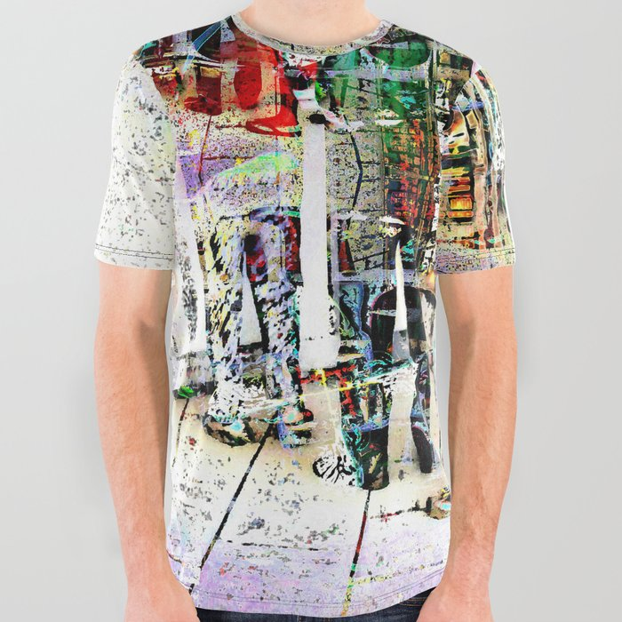 Queue_All_Over_Graphic_Tee_by_Fred_Maia__Large