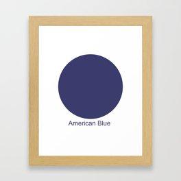 American Blue Framed Art Print